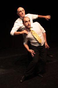 Spectacle proposé par le Théâtre du Mouvement et la compagnie Zinzoline autour des arts du mime et du geste