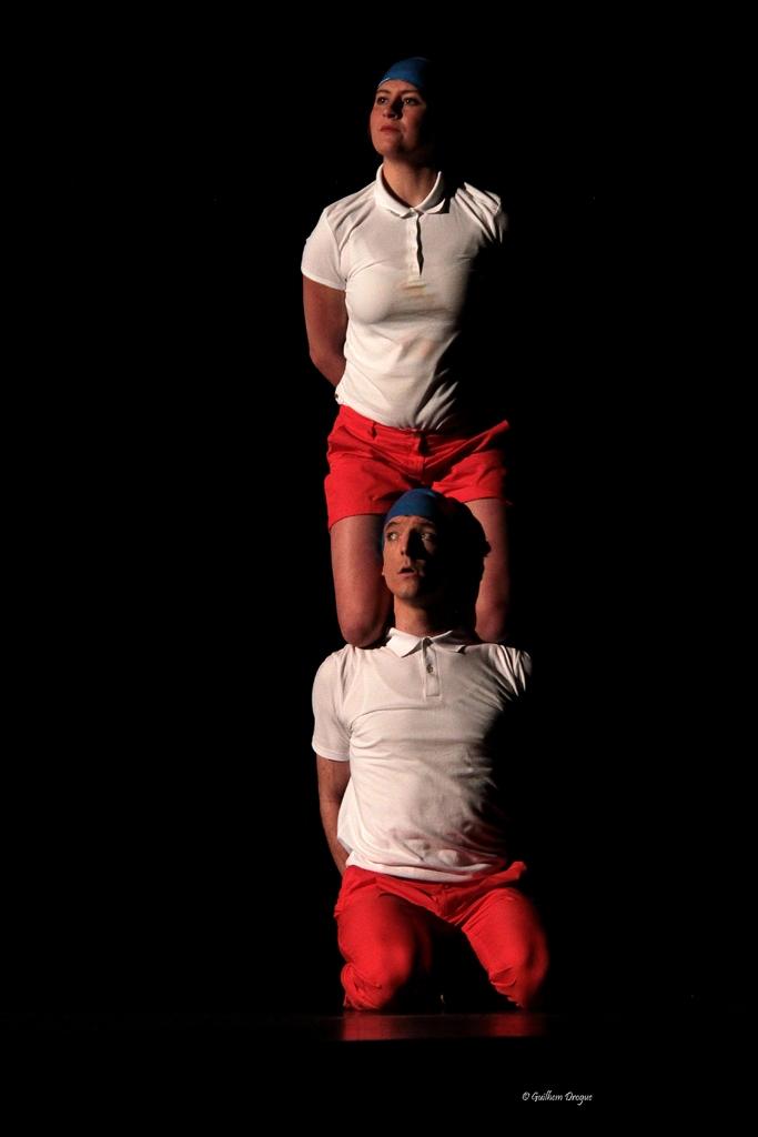 soirée Mimages fait son cirque à Saint-Sylvestre en Ardèche, festival du geste et du Mime, 2018, companie non de non