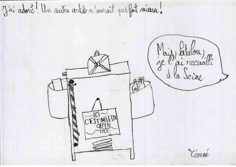 Dessins de l'école des Brémondières de Saint-Péray