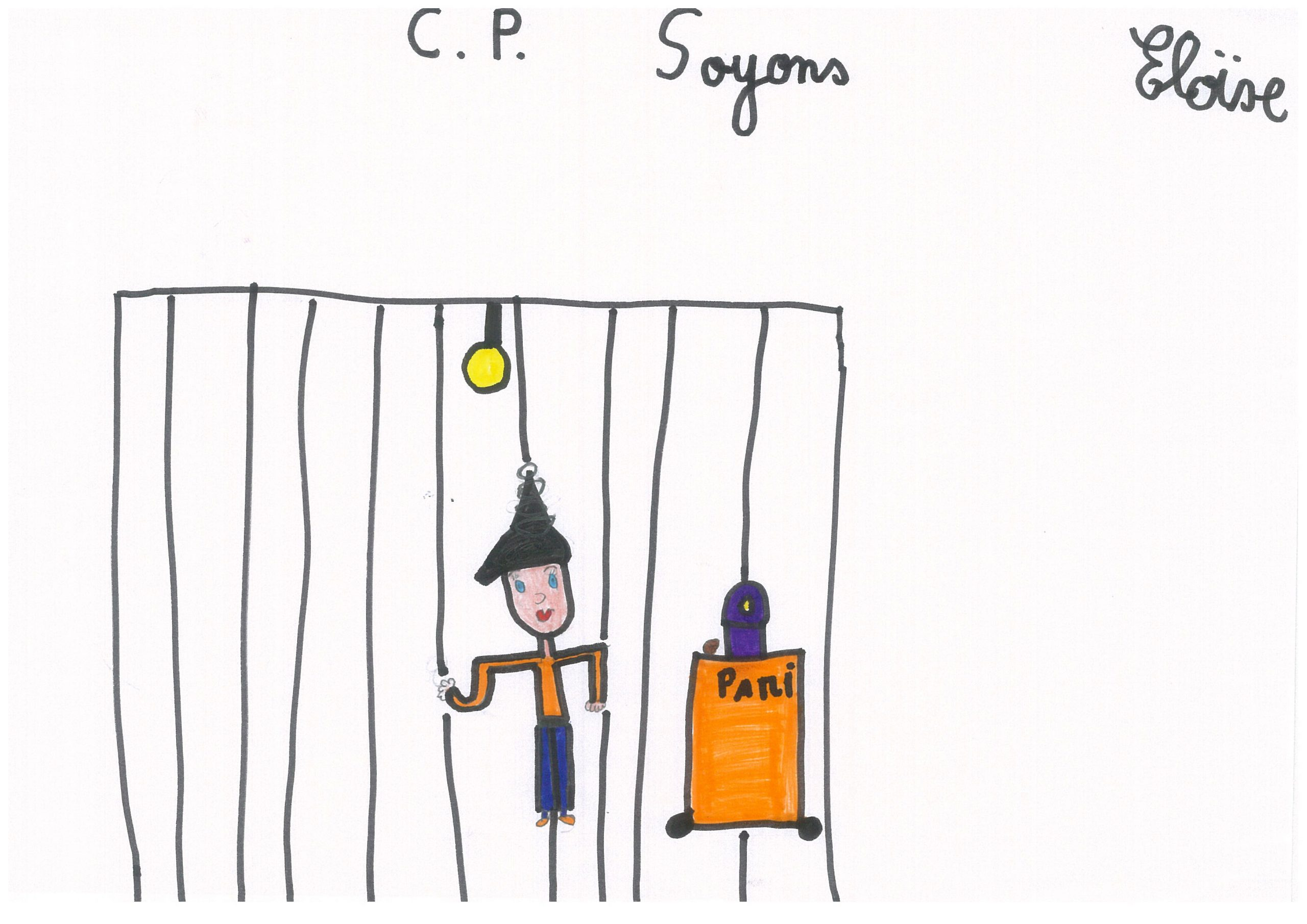 Dessins des enfants de la classe de Cp de Soyons dans le cadre de Mimages2021