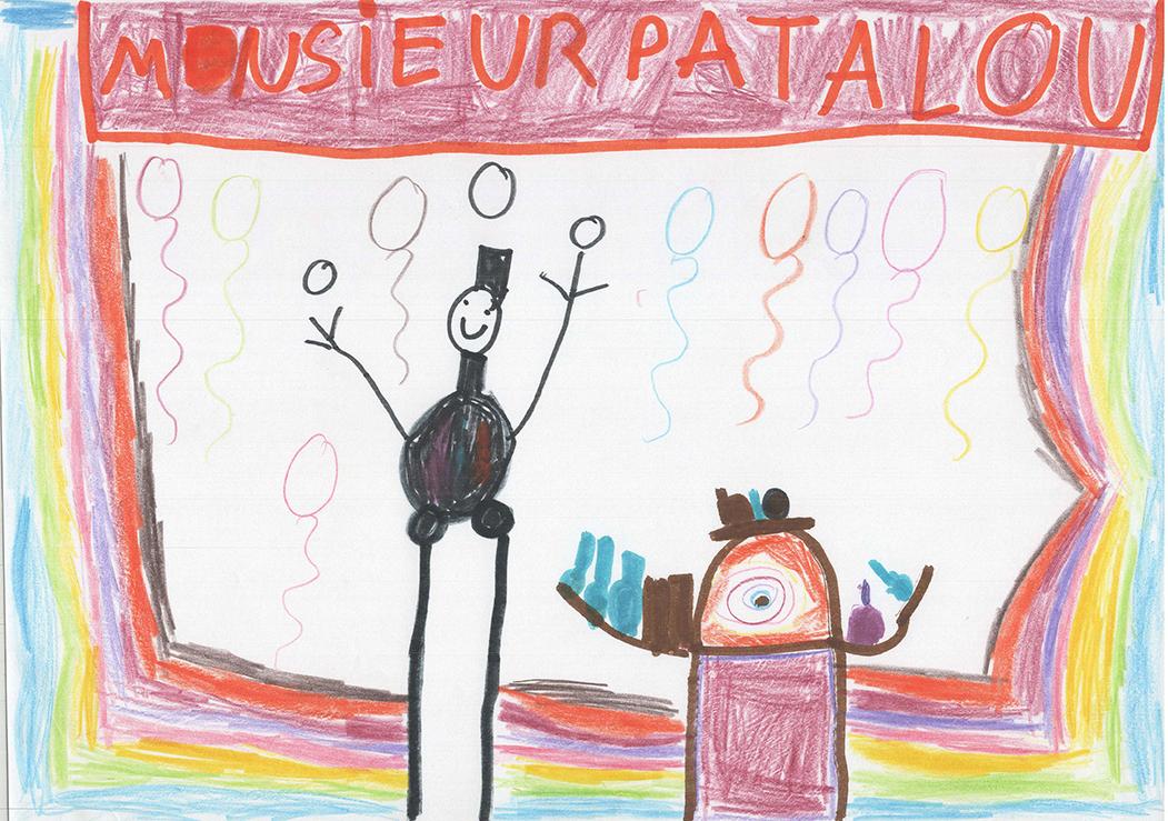 Dessins des enfants de l'école Lucien Roux de Saint-Georges-lès-bains en Ardèche, Mimages 2021