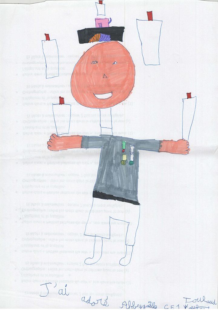 Dessins des enfants de Toulaud de la classe de CE1, Mimages 2021